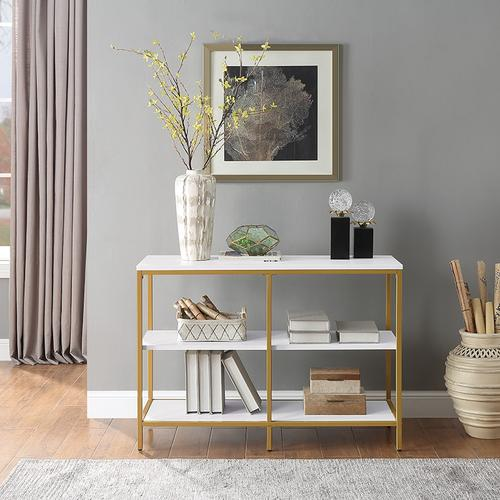 Modern Life White Double 3 Shelf Bookcase