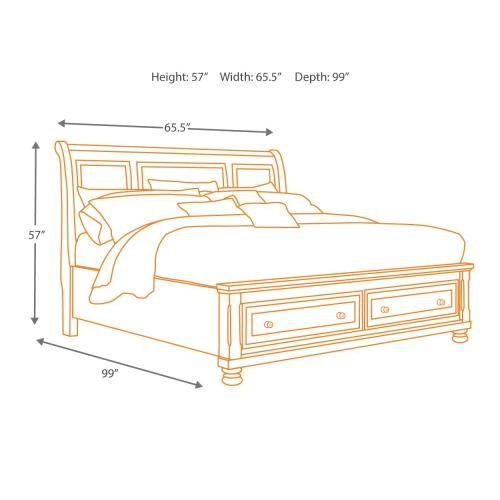 Gallery - Porter California King Sleigh Bed