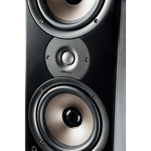 "Floorstanding Loudspeaker with four 6.5"" woofers and one 1"" tweeter in Black"