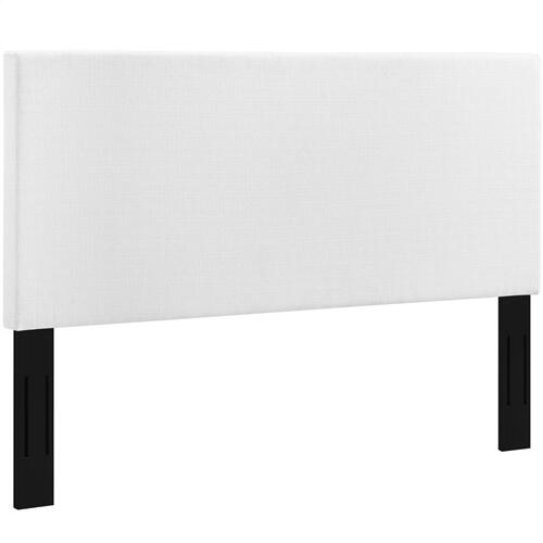 Modway - Taylor King and California King Upholstered Linen Fabric Headboard in White