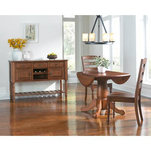 A America - Drop Leaf Pedestal Table