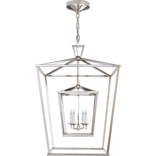 Visual Comfort CHC2179PN E. F. Chapman Darlana 4 Light 24 inch Polished Nickel Foyer Lantern Ceiling Light
