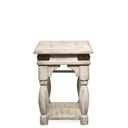 Regan - Chairside Table - Farmhouse White Finish