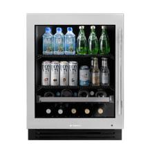 Product Image - 24 Inch Stainless Glass Door Left Hinge ADA Height Undercounter Beverage Center