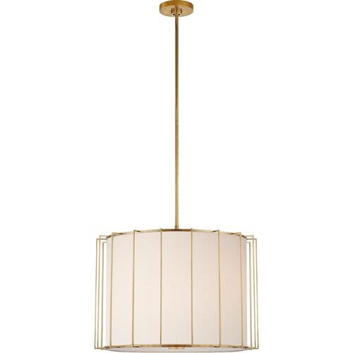 Visual Comfort BBL5014SB-L Barbara Barry Carousel 2 Light 24 inch Soft Brass Lantern Pendant Ceiling Light, Large Drum