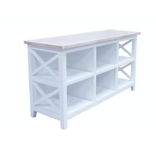 Server, Available in White Teak Finish Only.