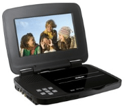 "Portable DVD Player with 7"" Screen"