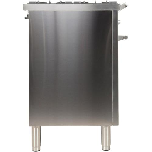 Ilve - Professional Plus 40 Inch Dual Fuel Liquid Propane Freestanding Range in Stainless Steel with Chrome Trim