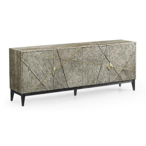 Geometric Dark French Oak Sideboard