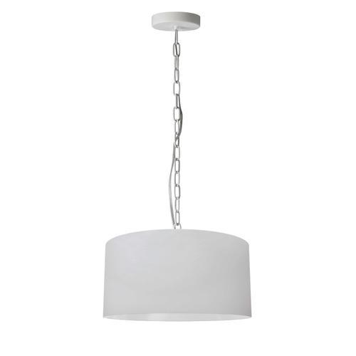 Product Image - 1lt Braxton Small Pendant, Wht/slv Shade, Wht