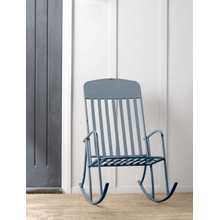 Denim Blue Rocking Chair