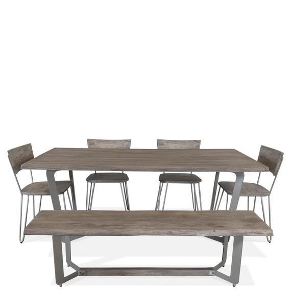 Riverside - Waverly - Dining Bench - Sandblasted Gray Finish