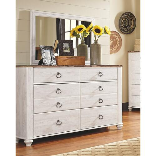 Ashley - California King Panel Bed With Mirrored Dresser and 2 Nightstands