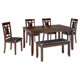 Bennox Dining Table and Chairs With Bench (set of 6)