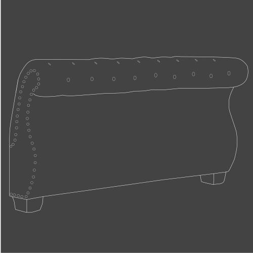 CLAIRE - KHAKI Queen Footboard 5/0