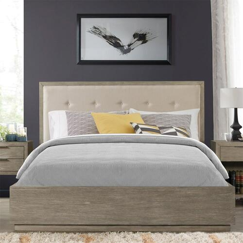 Zoey - Queen/king Single Storage Rail - Urban Gray Finish