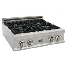 ZLINE 30 in. Porcelain Rangetop in DuraSnow® Stainless Steel with 4 Gas Burners (RTS-30)