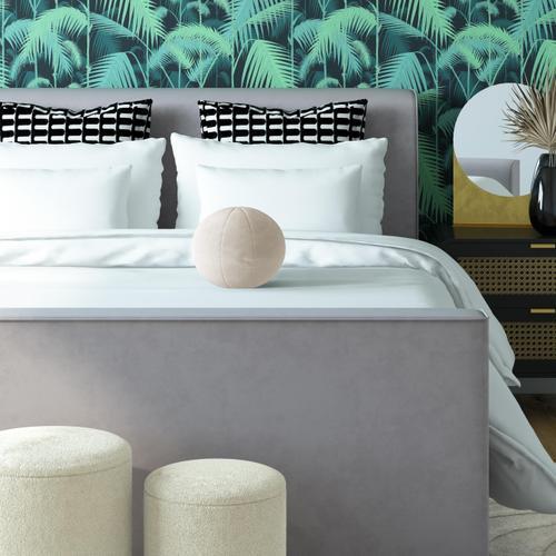 """Product Image - Boba 9"""" Cream Velvet Pillow"""