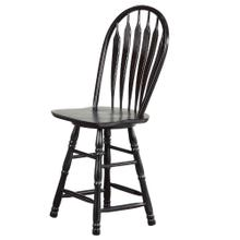 "DLU-B24-AB  24"" Swivel Barstool  Antique Black"