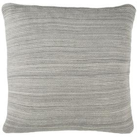 Loveable Knit Pillow - Light Grey / Natural