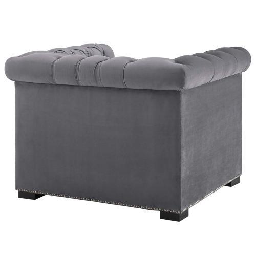 Modway - Heritage Performance Velvet Armchair in Gray