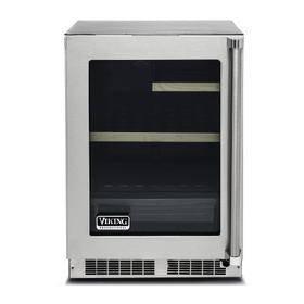 "24"" Glass Door Undercounter Refrigerator - VRUI Viking Professional Product Line"