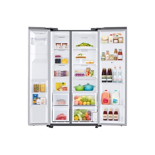 22 cu. ft. Counter Depth Side-by-Side Refrigerator with Touch Screen Family Hub™ in Stainless Steel