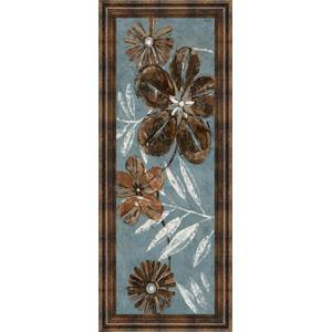 """Denim Garden Il"" By Maria Donovan Framed Print Wall Art"