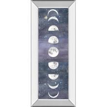 """""""Moon Chart Il"""" By Naomi Mccavitt Mirror Framed Print Wall Art"""