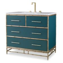 See Details - Chinoiserie Sink Chest - Peacock