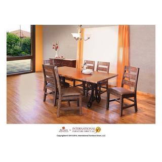 See Details - Iron Table Base - Brown Color - KD system