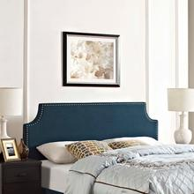 View Product - Laura Queen Upholstered Fabric Headboard in Azure