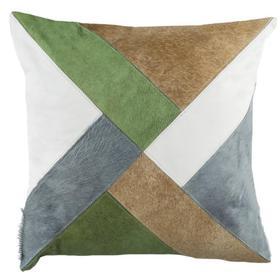 Clovis Cowhide Pillow - Beige / White / Grey / Olive Greeen