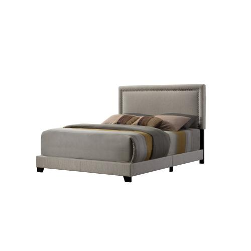 Emerald Home Upholstered Queen 5/0 Headboard-footboard-siderails Beige #linen #m10084