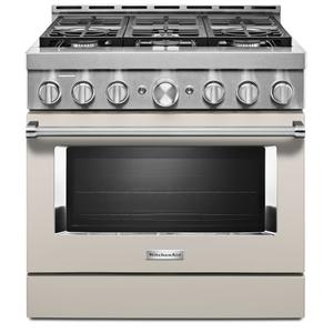 KitchenAid® 36'' Smart Commercial-Style Gas Range with 6 Burners - Milkshake Product Image