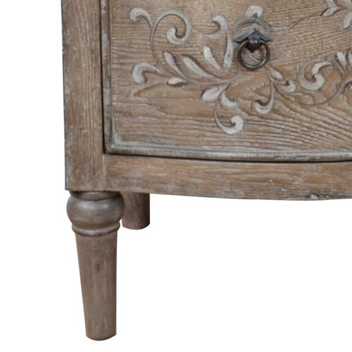 Accentrics Home - Handpainted Three Drawer Chest in Vintage Brown