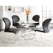 Tayside 5 Piece Set(Glass Top Table & 4 Side Chairs)
