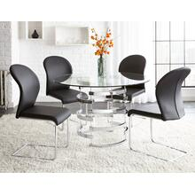 See Details - Tayside 5 Piece Set(Glass Top Table & 4 Side Chairs)