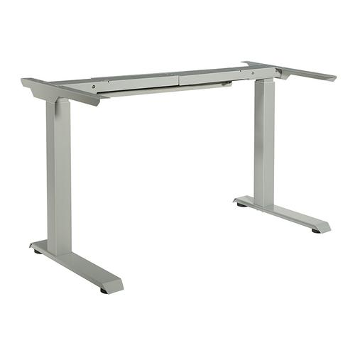 2-stage / 2-motor / 2-leg Electric Height-adjustable Base With Memory Handset, Silver