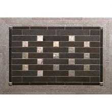Pixels - Backsplash White Bronze Brushed