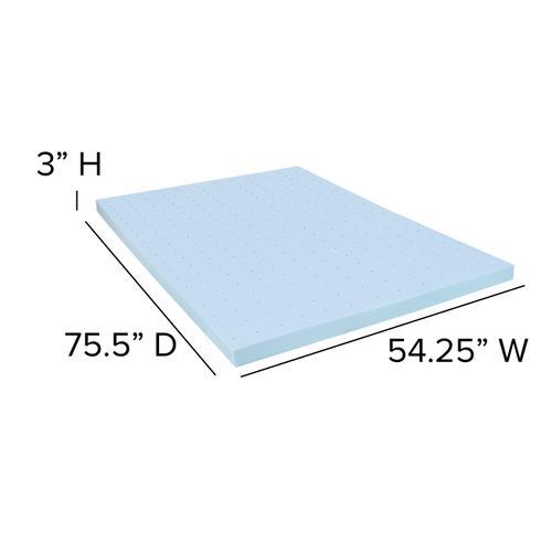 Flash Furniture - Capri Comfortable Sleep 3 inch Cool Gel Memory Foam Mattress Topper - Full
