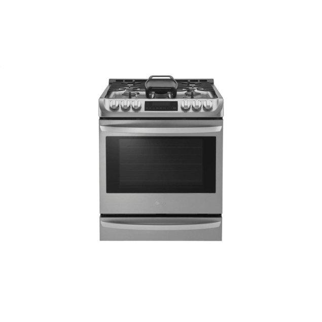 LG Appliances 6.3 cu. ft. Gas Single Oven Slide-in Range with ProBake Convection® and EasyClean®