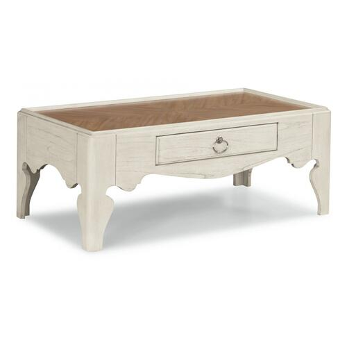 Flexsteel Miramar Rectangular Scroll-Leg Coffee Table