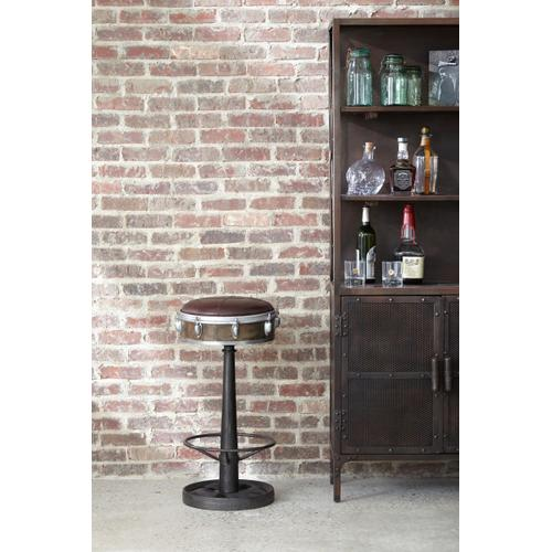 Drum Inspired Wright Leather Barstool