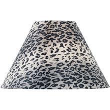 "Leopard Printed Fabric Shade - 6""tx16""bx12""sl"
