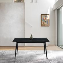 """See Details - Westmont 59"""" Rectangular Dining Table in Black Wood"""