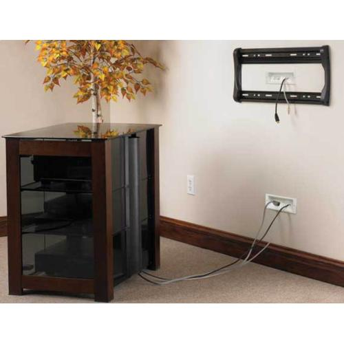 In-Wall Cable Management System For Mounted TVs