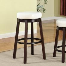 Set of Two Fun Color Wooden Swivel Barstools Bar Height Snow White