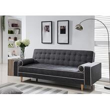 7567 GRAY Linen Futon Sofa Bed