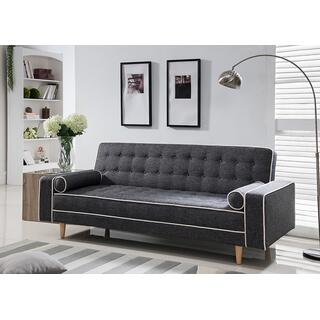 See Details - 7567 GRAY Linen Futon Sofa Bed